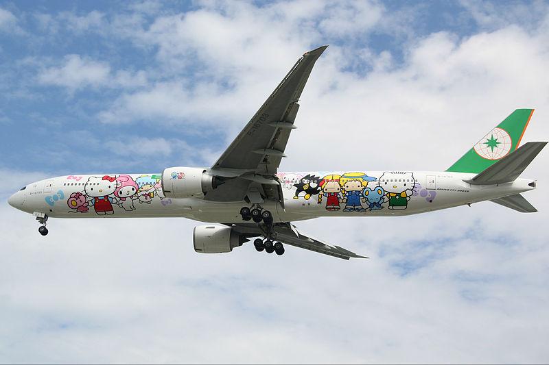 B-16703_(Boeing_777-35E(ER))_from_EVA_Airways_Hello_Kitty_Special_Scheme_(9963821363).jpg