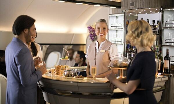 One of Emirates' first class Onboard Lounges
