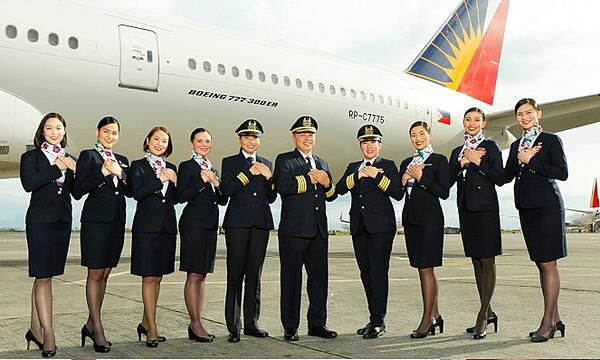 The flight crew of one of Philippine Airlines' many airliners.