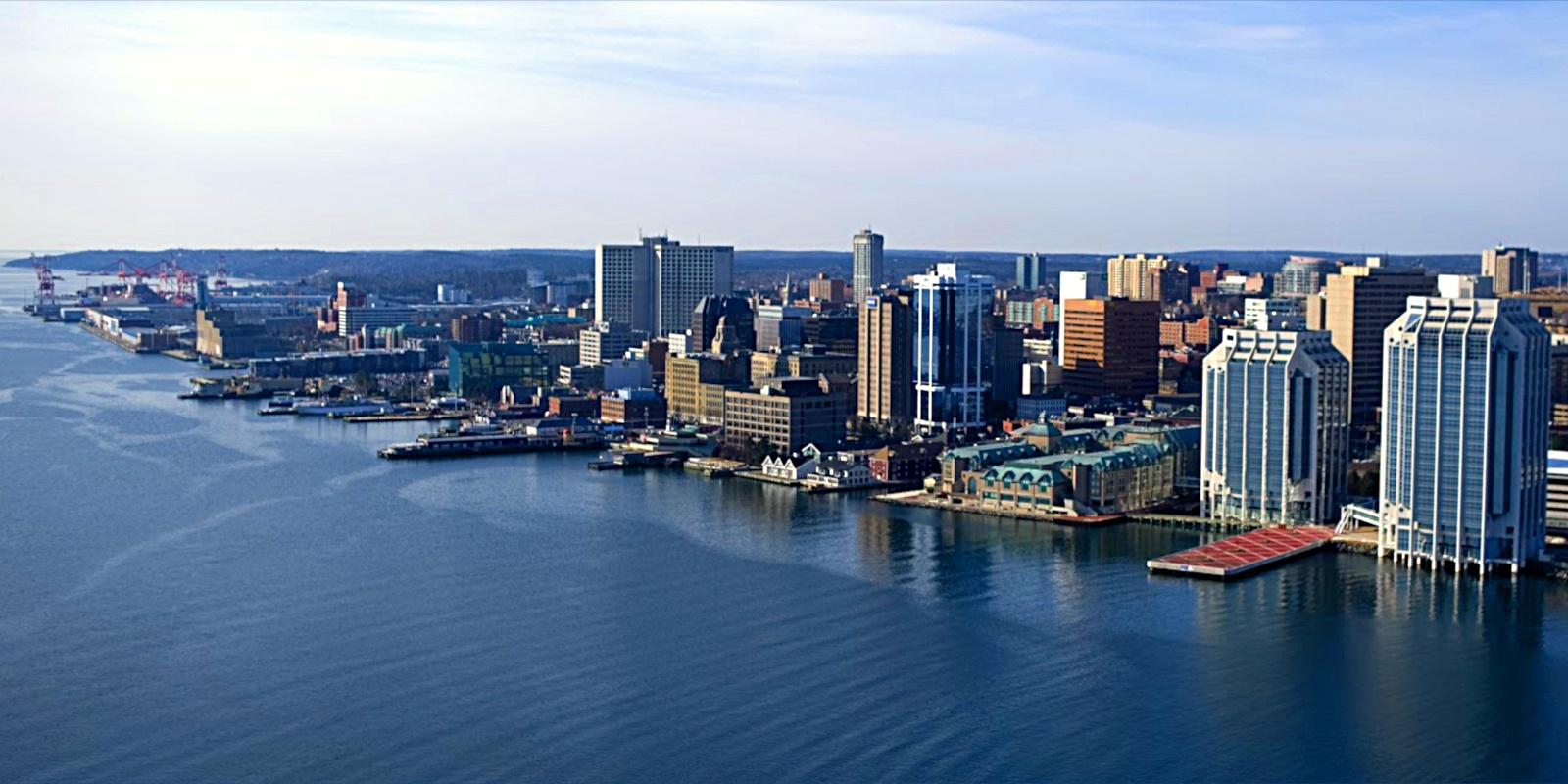 The gorgeous Halifax waterfront appears to have been carved from the rocky, rugged Nova Scotia coastline.