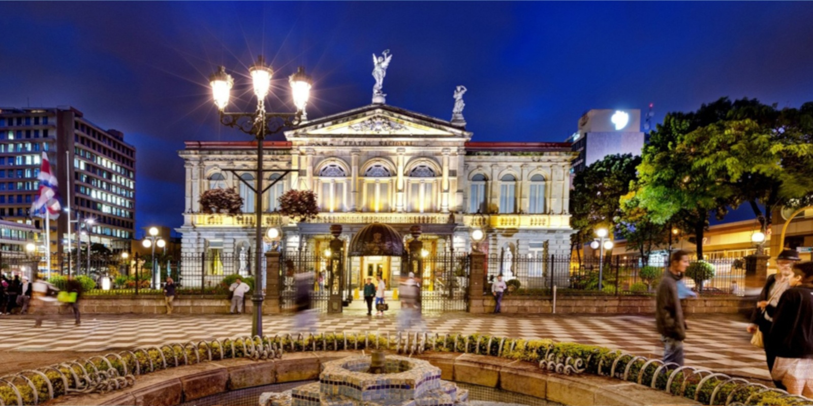San José's beautiful, Victorian-inspired Teatro Nacional de Costa Rica.